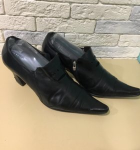 Туфли полуботинки 40 размер, натуральная кожа