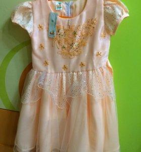 Платье новое праздничное на 5 лет