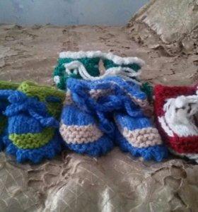 Носки и пинетки детские