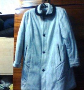 Зимнее пальто/куртка, 54-56 размера, черно-белое