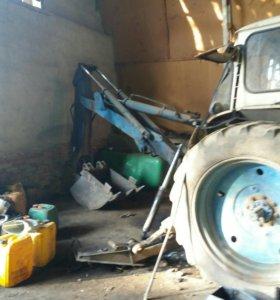 Остатки трактора на запчасти