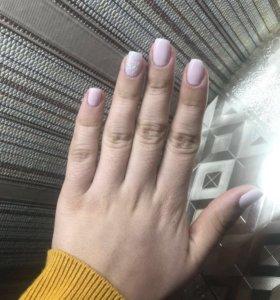 Ногти, наращивание ногтей, покрытие гель-лак