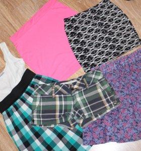 юбка, платье, шорты 5 шт