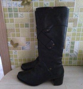 Белорусские кожаные сапожки. Р-р 38.