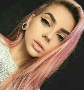 Бежево розовый блонд славянка