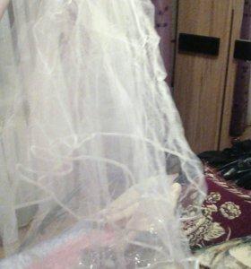 Свадебная фата и перчатки