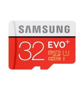 Карта памяти Samsung EVO Plus MicroSDXC 32ГБ