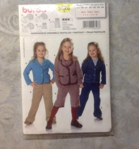 Выкройка костюма для девочки 104-140