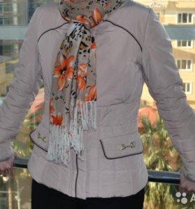 Куртка демисезонная приталенная кремовая р. S