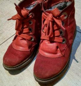 Ботинки зимние, натуральная кожа натуральный мех