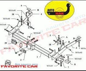 Фаркоп для Fiat auto hak