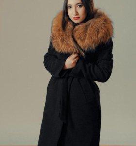 пальто зимнее: натуральный мех
