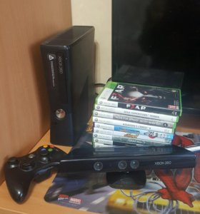 Игровая приставка Xbox 360 + Kinect + игры