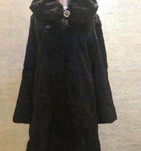 Шуба норковая цельная размер 42-44