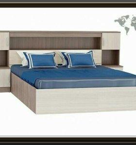 Кровать новая с модулем и матрасом!