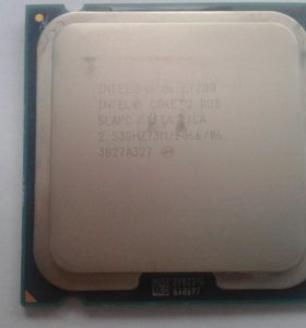 2х ядерный процессор Intel Core 2 Duo E7200 lga775