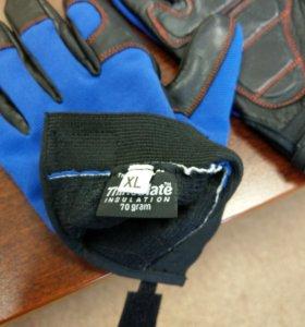 Перчатки для турника workout f2 синие утепленные