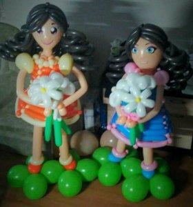 Ростовые куклы из шариков