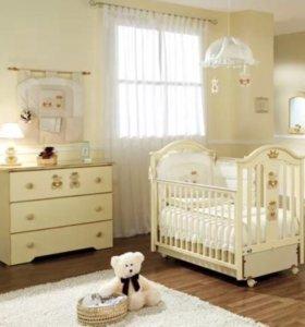Кровать и комод Pali Capriccio Royal + эргоматрас