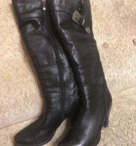 Сапоги зимние кожаные р-р 39