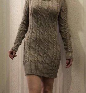 Новое вязаное платье.