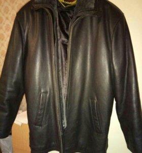 Куртка мужская кожаная с мехом