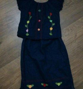 Костюм жилетка и юбка детские