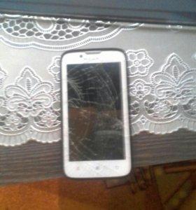 Телефон ленова А328,разбит экран так все работает