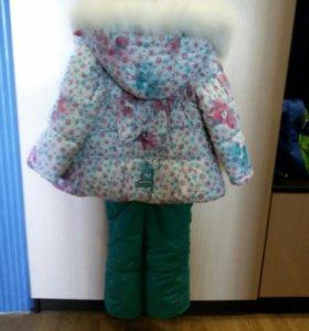 Зимний комплект на девочку 92 размер
