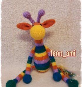 Жираф-игрушка ручной работы.