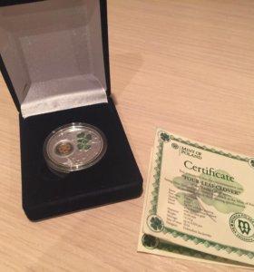 Коллекционная монета (серебро с позолотой)