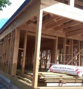 Строительство каркасных домов зимой!