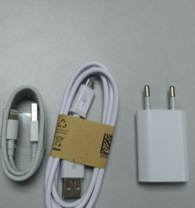 блок зарядки lightning micro usb iphone android