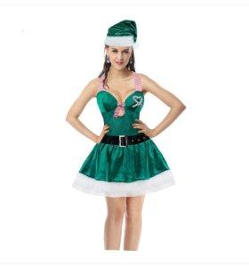 Новый карнавальный костюм снегурочка