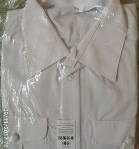 Рубашка военная белого цвета