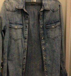 Новая джинсовая рубашка h&m
