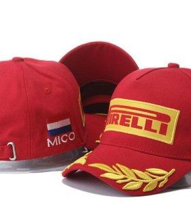 Красная бейсбольная кепка победителя Pirelli