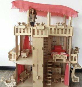 Деревянный особняк для Барби