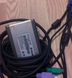 Kvm switch на 2 системника d-link dkvm-2k