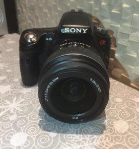 Зеркальный фотоаппарат Sony alpha 35