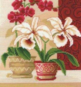 набор для вышивания Изящные орхидеи