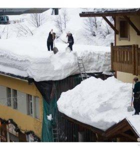чистим снег лопатами в зарайске