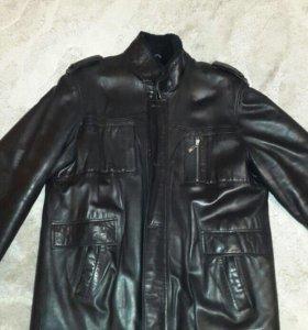 Мужская зимняя кожаная куртка 58 размера