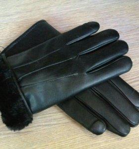 Очень теплые мужские перчатки новые