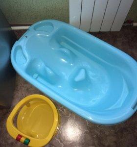 Ванночка для купания +сиденье на присосках