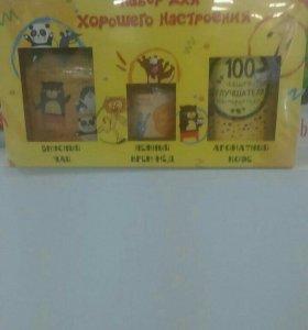 Набор подарочный чай, кофе, крем-мед
