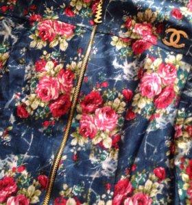 Джинсовой пиджачок