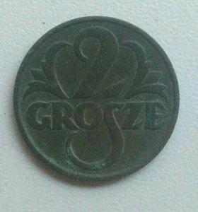 2 гроша 1928 года Польша