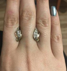 Серьги бриллиантовые!