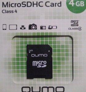 4Gb Qumo MicroSDHC Class 4